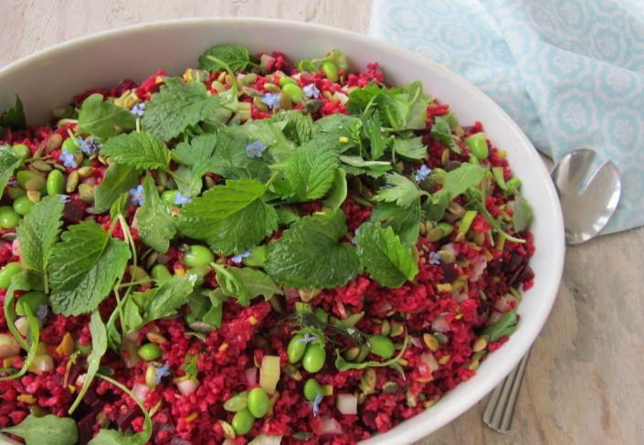 rød-bulgurssalat