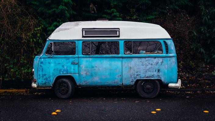 blå-bil