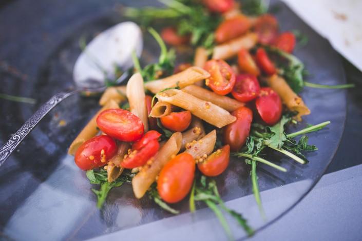 pasta,tomater,pistaciepesto