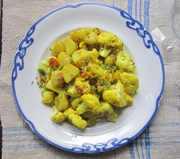 gurkemeje,kartoffel,blomkålssalat
